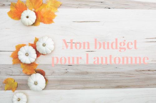 budget pour l'automne planifié sur une saison